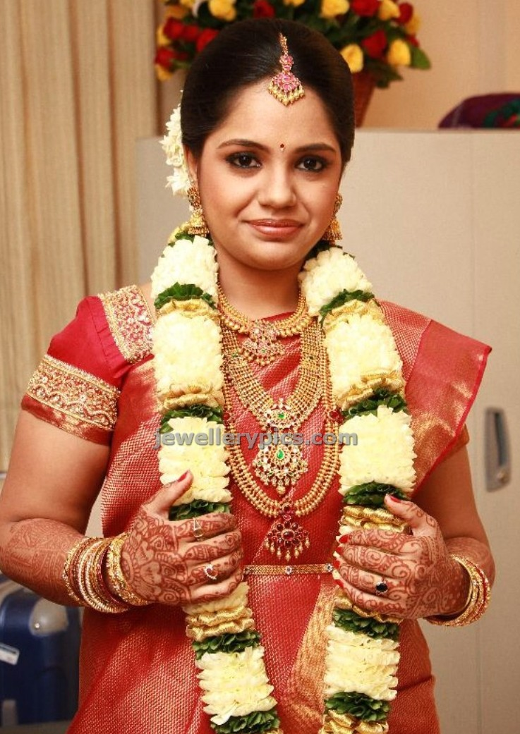 Singer Saindhavi Wedding Jewellery Latest Jewellery Designs