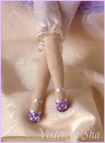 кукла Тильда - Виолетта (ножки в туфельках)