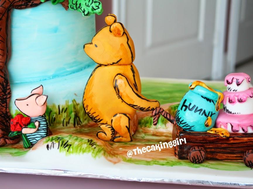 beautiful winnie the pooh cake fondant