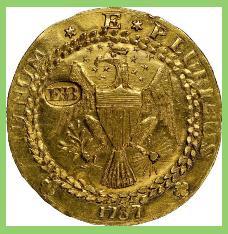 Subastada rara moneda antigua.