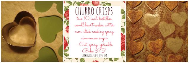 baked cinnamon sugar churro crisps with hot fudge sauce at shakentogetherlife.com