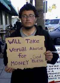 Panhandler sign funny