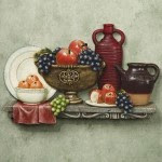 table kitchen wall plaque tuscano