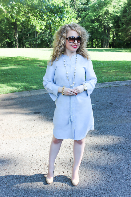 Lawyer Lookbook: Ann Taylor, Ivanka Trump, Michael Kors Hamilton, lawyer fashion, blog, Chambray Shirt Dress