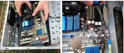 Colocación del motherboard en el gabinete