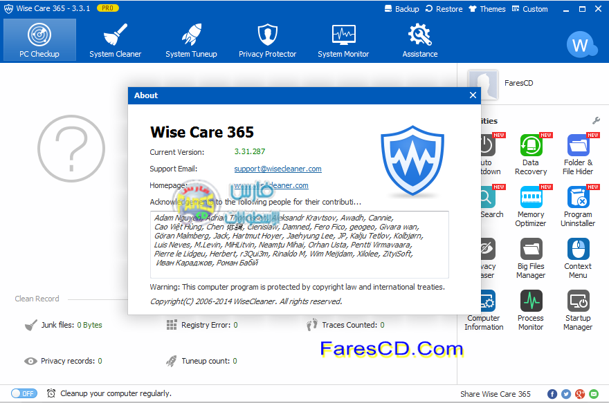 Wise Care 365 Pro 3.31