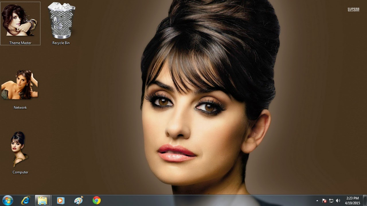 Download Sexy Penelope Cruz visual theme for Apple Mac