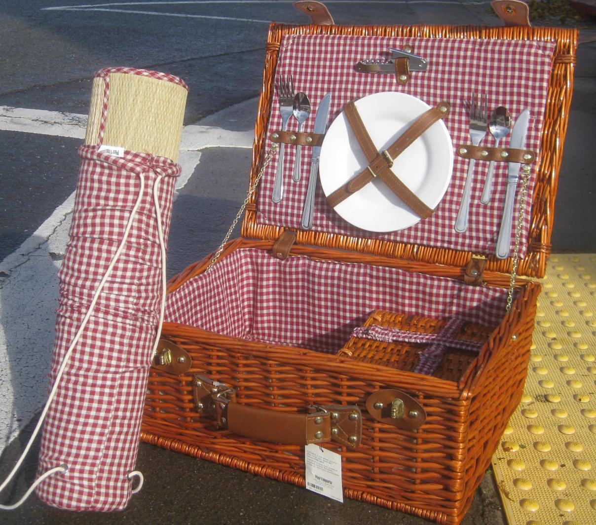Uhuru Furniture Collectibles Sold Chic Pier 1 Wicker Picnic Set 45