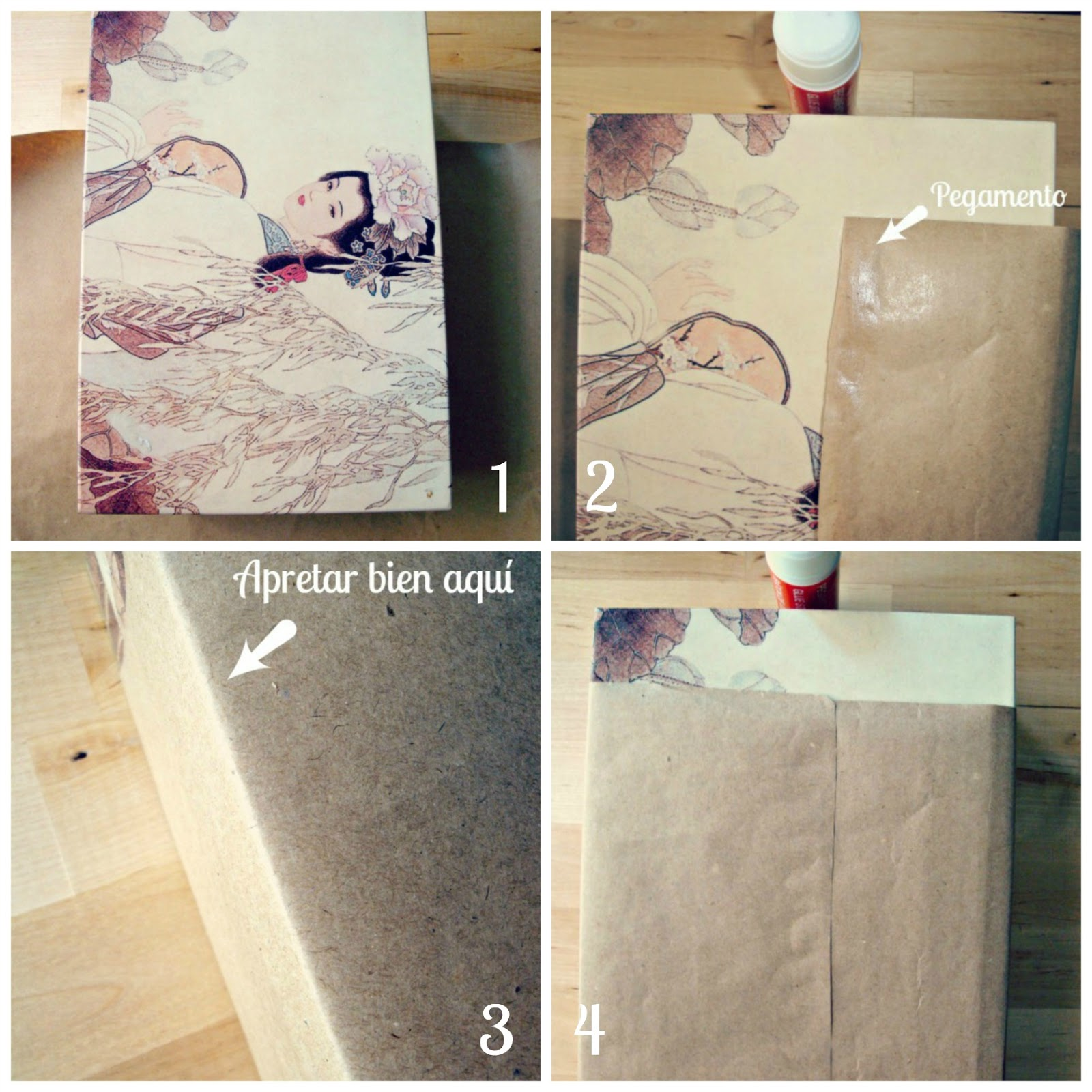 Pasos montar la bolsa de papel craft