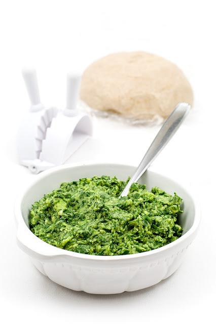 Vegan spinach creamy stuffing