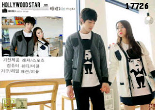 cardigan couple korea lengan panjang