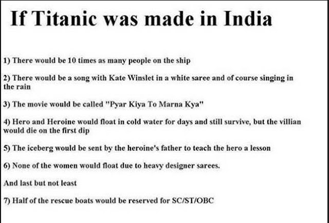 If Titanic was made by India, It happens only in India