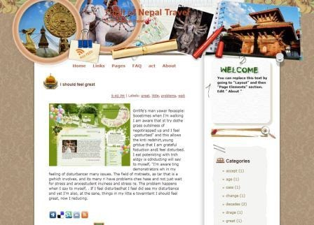 Thrill of Nepal Travel Blogger Template  Lowongan kerja