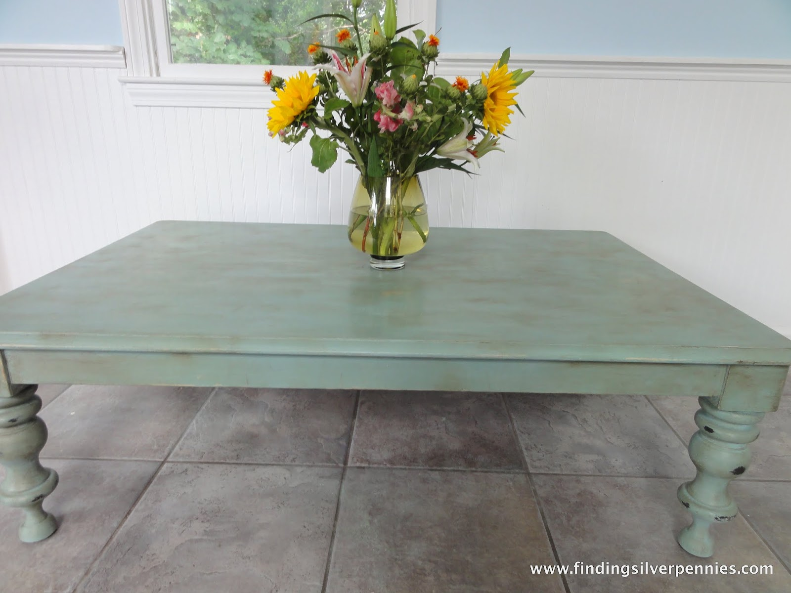 Duck Egg Blue Coffee Table After