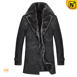 Black Shearling Fur Coat