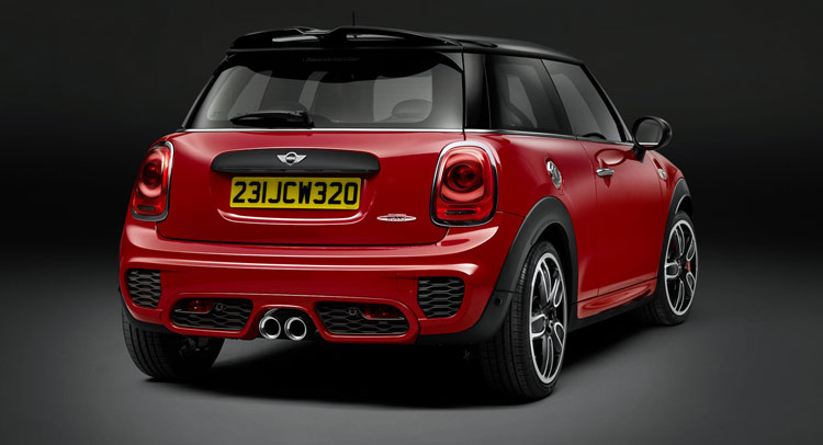 new mini john cooper works is the brand 39 s most powerful model ever. Black Bedroom Furniture Sets. Home Design Ideas