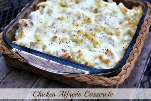 Chicken Alfredo Casserole