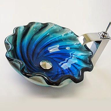 Lavabo de Diseño de Cristal estilo Jacuzzi