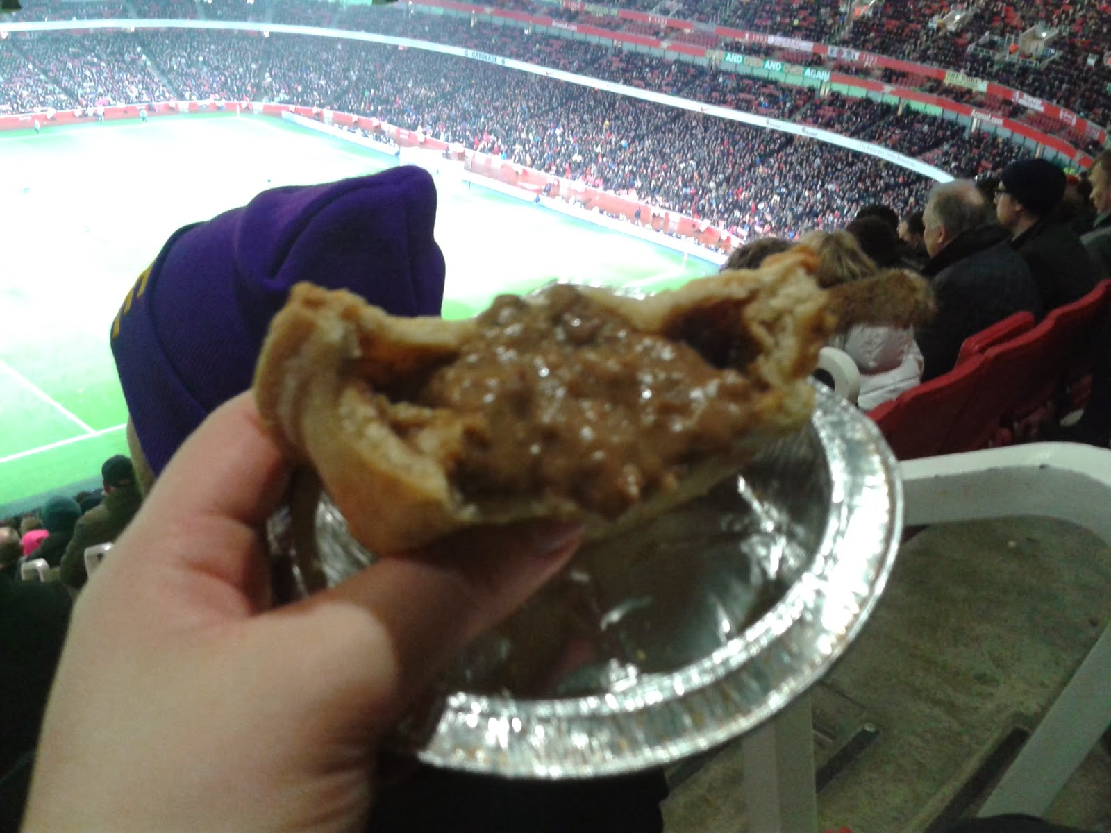 Holland's Big Peppered Steak Pie at the Emirates Stadium, Arsenal