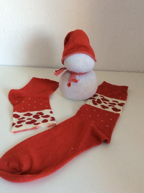 Muñeco de nieve diy con calcetines