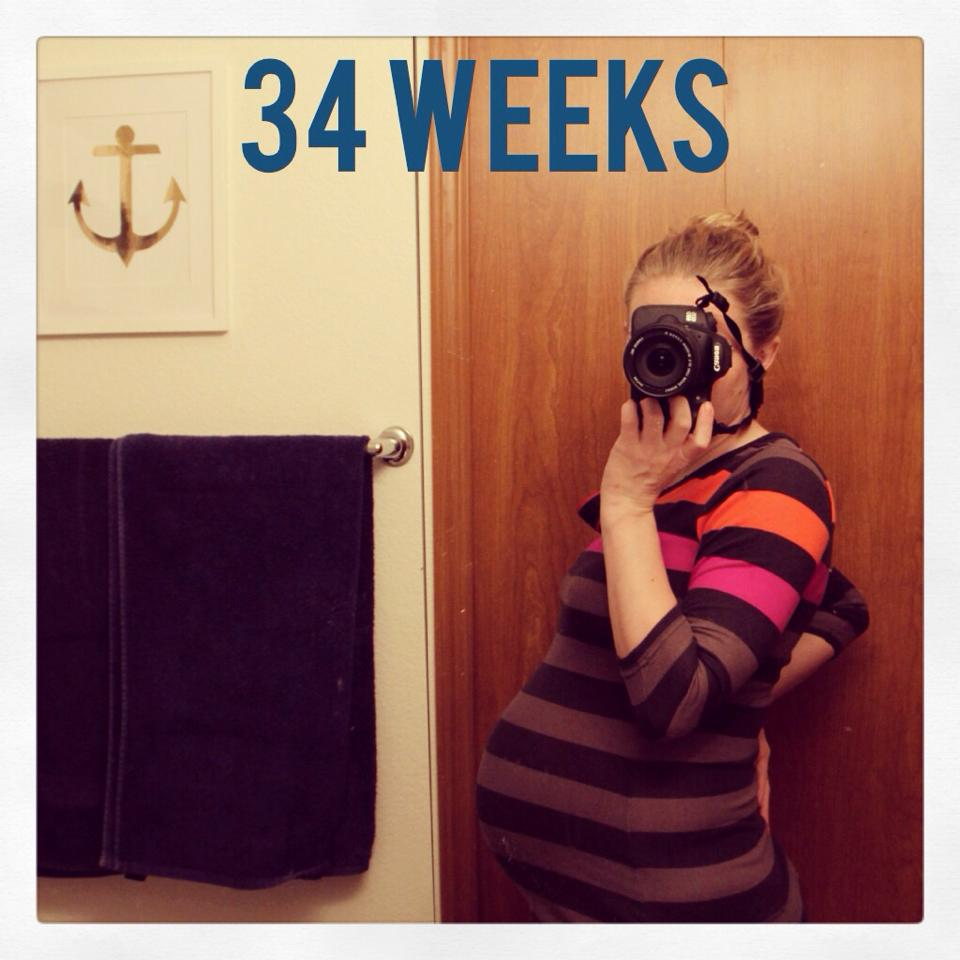 baby bump at 34 weeks