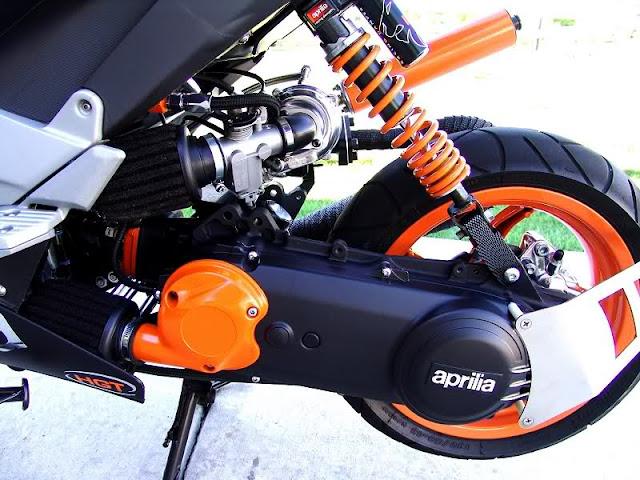 Aprilia SR50 Turbo | SR50 Turbo | Turbo Scooter | Motorcycle Turbocharger | Aprilia Turbo | Custom Aprilia SR50 | Custom Scooter | way2speed.com
