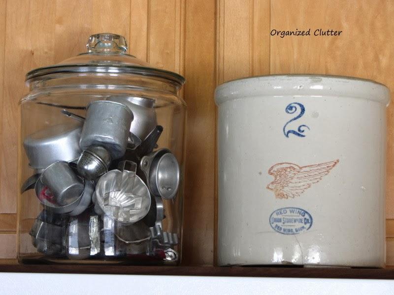 Vintage Tin/Aluminum Utensils & Crock www.organizedclutterqueen.blogspot.com
