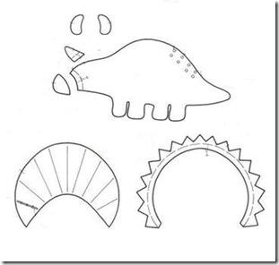 Patrones Dinosaurios Tela Fieltro