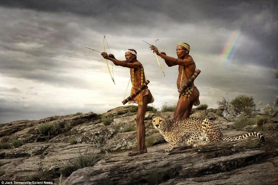 يصطاد الصيادين مع الفهد