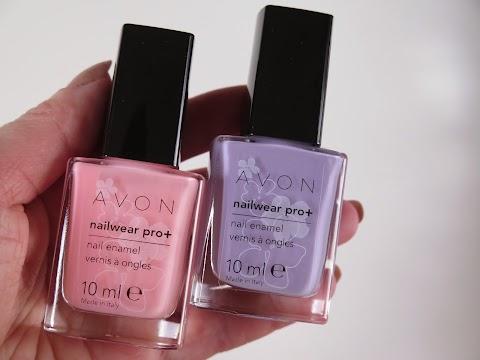 Avon nailwear pro+ nagų lakai cotton candy ir luxe lavender