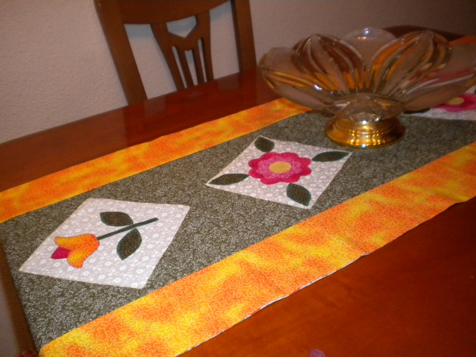 Camino de mesa de patchwork el blog de margarita el - Camino mesa patchwork ...