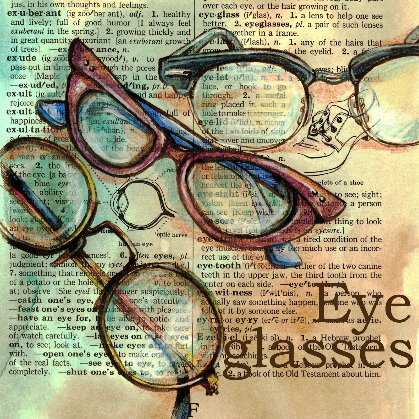 Eyeglass Frames Paint : flying shoes art studio: EYEGLASSES ON DISTRESSED ...