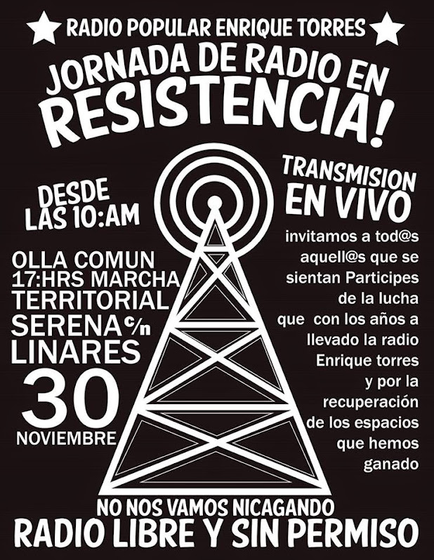 LA GRANJA: JORNADA DE RADIO EN RESISTENCIA