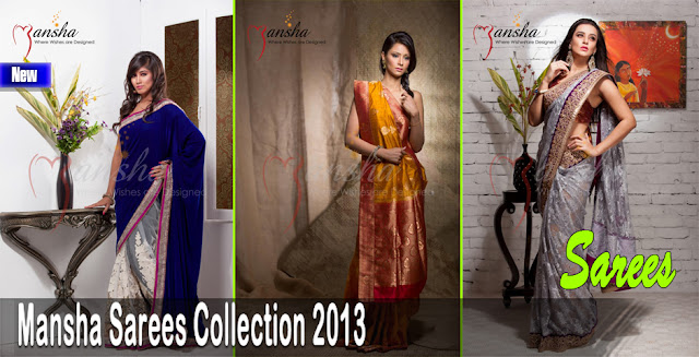 Superb Mansha Sarees Collection 2013