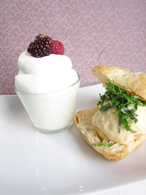 Franciakrémes fagyinak karamellbe zárt gyümölcsökkel – SAD 7