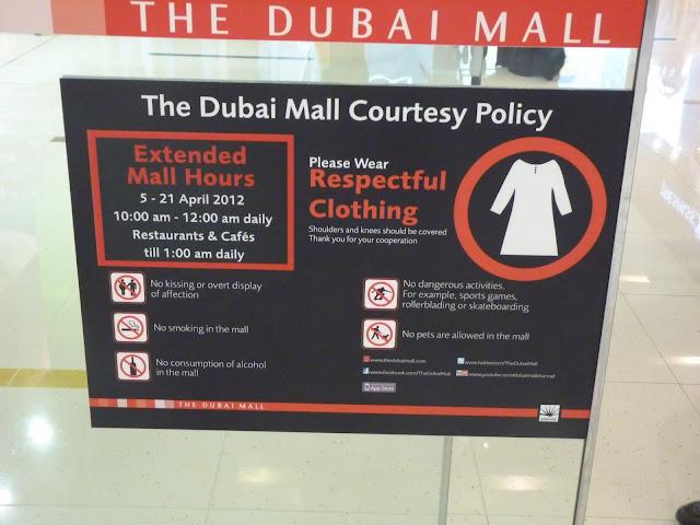 Normas de conducta, como vestir en Dubai