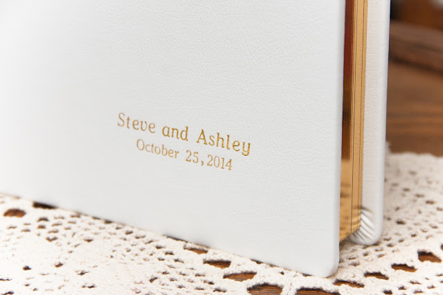 wedding album, white leather, Silver Spring, wedding photographer