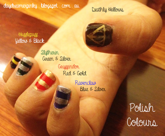 Easy Nail Art Harry Potter Inspired The Wanderlust Daisy