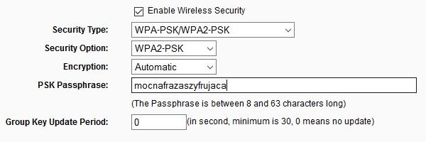 Szyfrowanie danych Wi-Fi