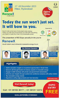 South India's most influential renewable energy forum.Visit the RenewX - A UBM event