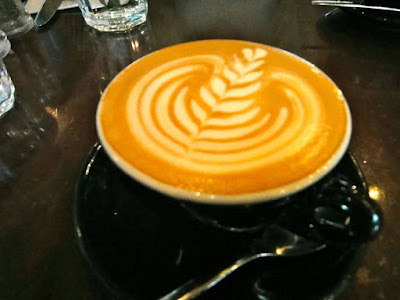 A cup of mocha at Oriole Coffee + Bar, 313 Somerset