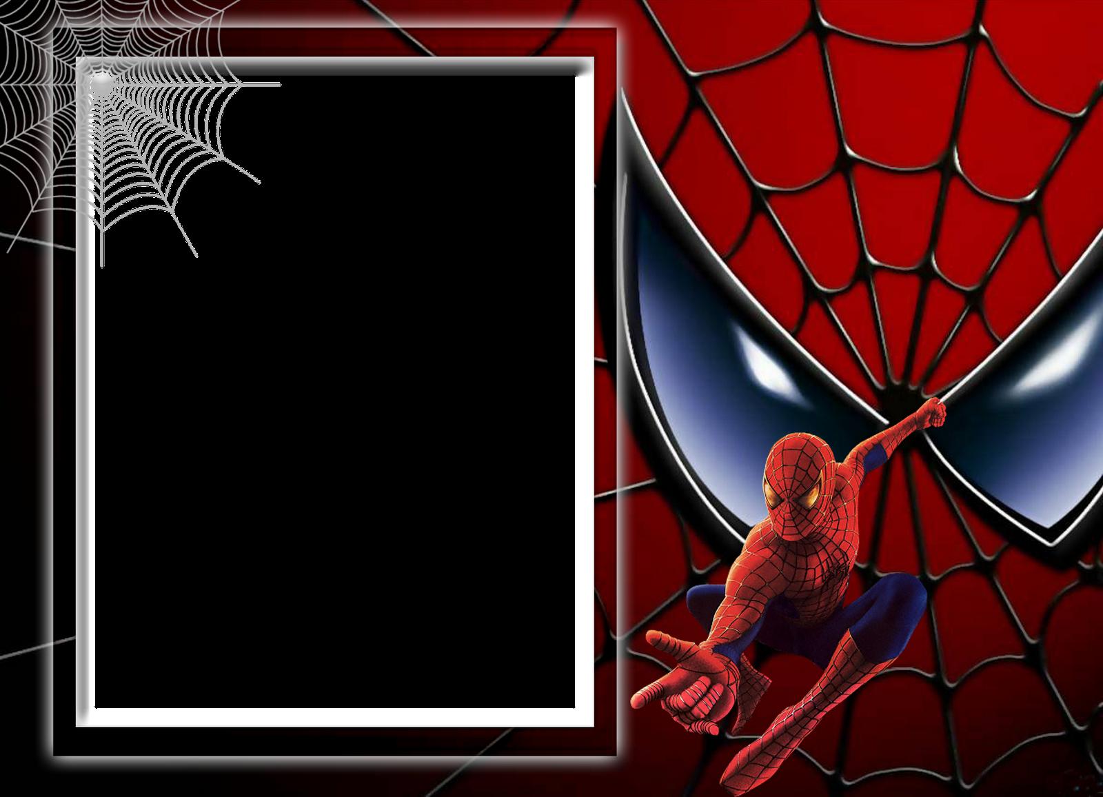 S.O.S Molduras e Vetores: Molduras Homem Aranha