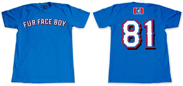 "Fur Face Boy 2012 Baseball Series T-Shirt Collection - ""FFB Rangers"""