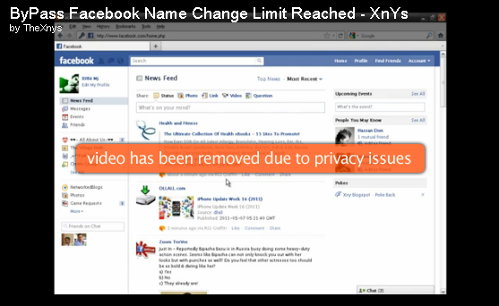 Facebook Name Change Limit Reached Fix By xnys.blogspot.com