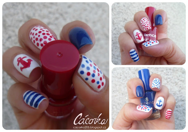 Summer Challenge - Nautical Nails