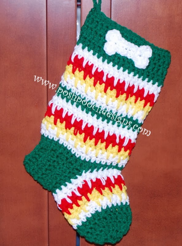 Free Dog Christmas Stocking Crochet Pattern : Posh Pooch Designs Dog Clothes: PPD Puppy Love Christmas ...