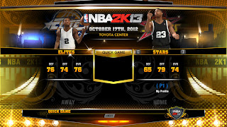 Rookie Stars versus Elite Stars Unlocked on NBA 2K13 PC