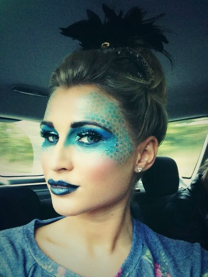 makeup by ashley billie faiers peacock look towie halloween. Black Bedroom Furniture Sets. Home Design Ideas