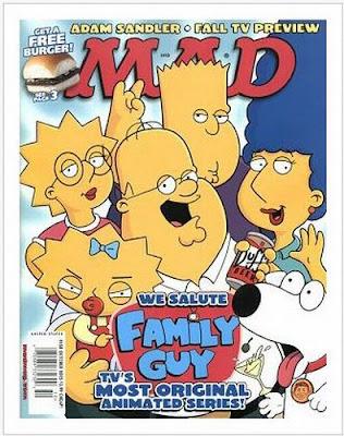 Simpsons representado como personagens do seriado Uma Família da Pesada.