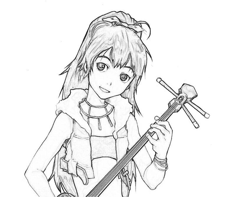 idolmaster-hibiki-ganaha-cute-coloring-pages